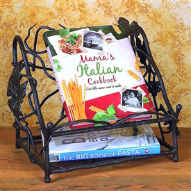 Wrought Iron Cookbook Holder by Bella Toscana