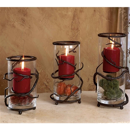 Wrought Iron Floating Vine Candleholder - Set of 3 by Bella Toscana
