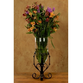 Wrought Iron Tuscan Vase by Bella Toscana