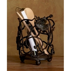 Wrought Iron Vineyard Utensil Caddy by Bella Toscana