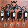 Pictured here is the Wrought Iron 5 Bottle Wall Wine Holder