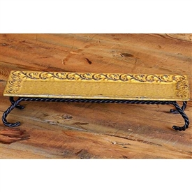 Pictured here is the Wrought Iron Villa Rectangle Server Bella Toscana