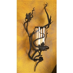 Wrought Iron Hurricane Sconce by Bella Toscana