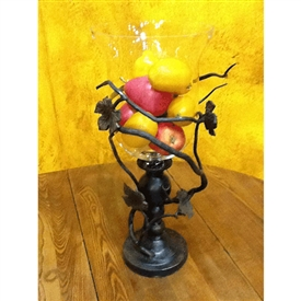 Wrought Iron Vineyard Vase by Bella Toscana