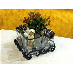 Wrought Iron Siena Quad Utensil Holder by Bella Toscana