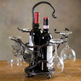 Pictured here is the Wrought Iron Twig Wine Caddy by Bella Toscana