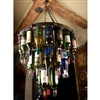 Pictured here is the Wrought Iron Milan Wine Bottle Chandelier by Bella Toscana
