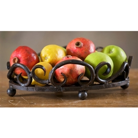 Wrought Iron Siena Fruit Bowl by Bella Toscana