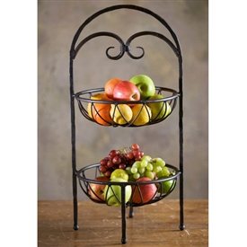 Wrought Iron Siena 2-Tier Fruit Stand by Bella Toscana