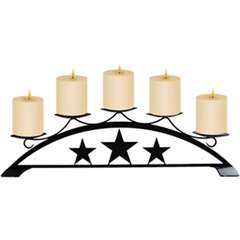 Wrought Iron Star Table Top Center Piece