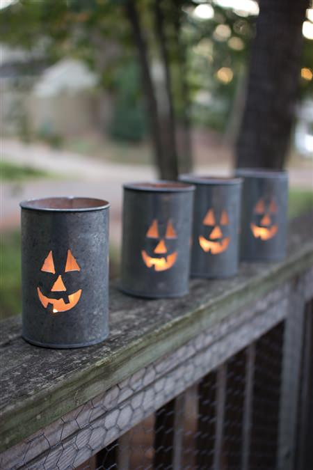 Tin Luminary-Jack-O-Lantern