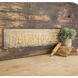 Pictured here is the galvanized farmhouse sign