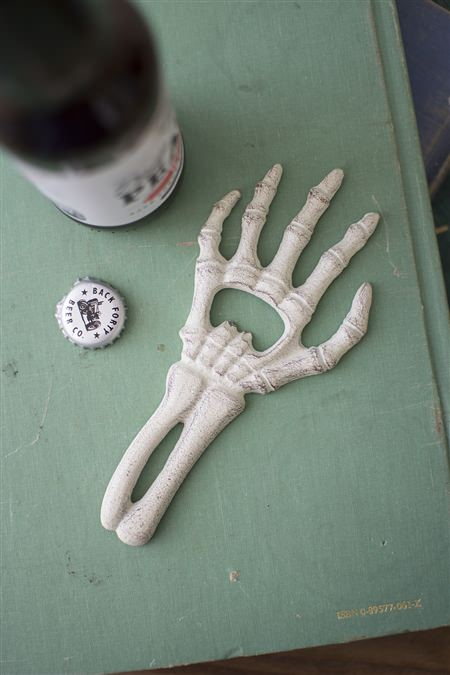 Cast Iron Hand Bone Bottle Opener
