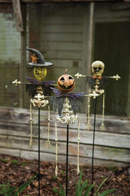 Set Of Three Halloween Yard Stakes-One Each Design