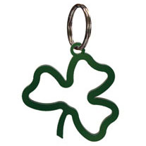 Wrought Iron Shamrock Key Chain