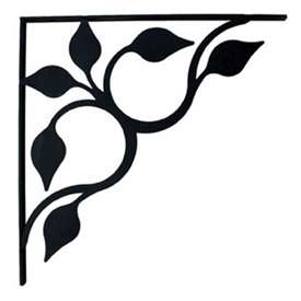Wrought Iron Leaf Fan Shelf Brackets