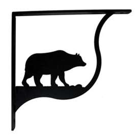 Wrought Iron Bear Shelf Brackets