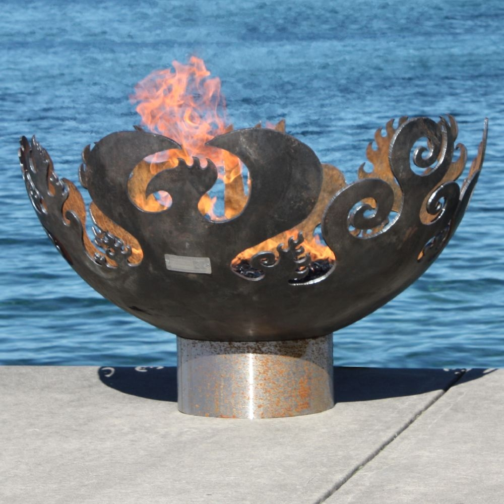 wrought iron fire pit great bowl ou0027fire by john t unger - Fire Pit Bowl
