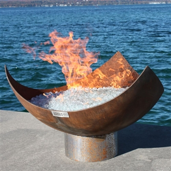 King Isosceles Outdoor Firebowl by John T. Unger