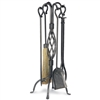 Wrought Iron 5 Piece Basket Weave Fireplace Tool Set, 28H by Pilgrim
