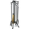 Pictured here is the Wrought Iron 5 Piece Craftsman Fireplace Tool Set by Pilgrim Home and Hearth