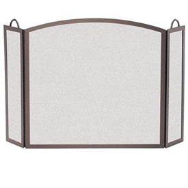 Pictured here is the 3 Panel Center Arch Fireplace Screen with 12 inch side panels from Pilgrim Home and Hearth