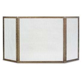 Pictured here is the Bay Branch 3 Panel Fireplace Screen with full length piano hinges.