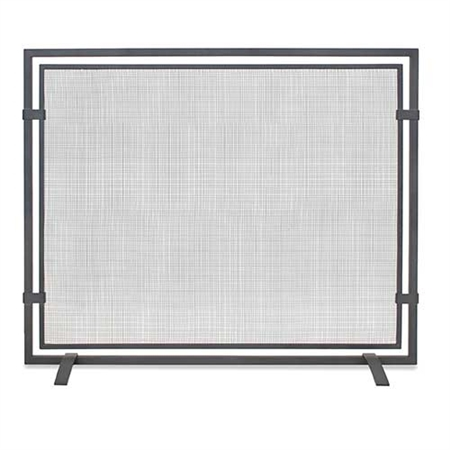Pictured here is the Sinclair Fireplace Screen featuring contemporary banding.