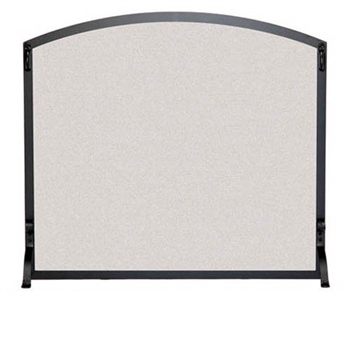 Pictured here is the Wrought Iron Single Panel Arched Fireplace Screen with matte black finish by pilgrim