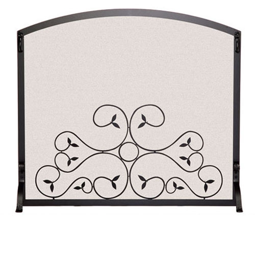 e8d96b5b7dd Picture here is the Single Panel Applique Scroll Fireplace Screen by  Pilgrim hearth.