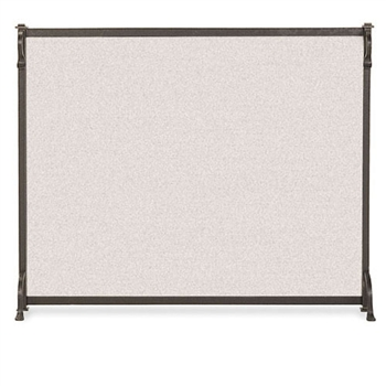 Pictured here is the Wrought Iron Single Panel Craftsman Fireplace Screen in by Pilgrim