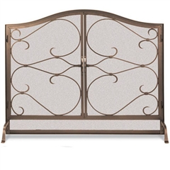 Pictured Here Is The Wrought Iron Gate Arched Fireplace Screen With Doors By Pilgrim