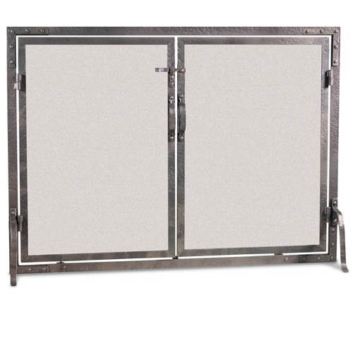 Old World Flat Fireplace Screen With Doors 42w X 31h