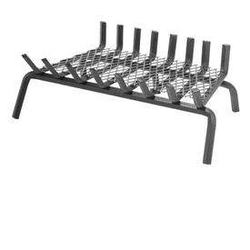 Pictured here is the Wrought Iron Fireplace Grate with 6-inch Clearance and 17-inch depth.