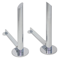 Pictured here are the Modern Tower Andirons