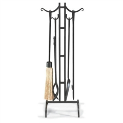 Wrought Iron 5 Piece City Bridge Fireplace Tool Set by Napa Forge