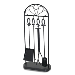 Wrought Iron 5 Piece Colonial Fireplace Tool Set by Napa Forge