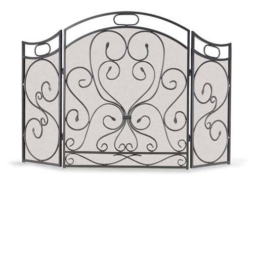 Wrought Iron 3 Panel Shakespeare's Garden Fireplace Screen by Napa Forge - Iron 3 Panel Shakespeare's Garden Fireplace Screen By Napa Forge