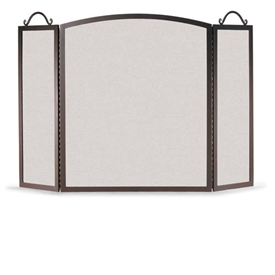 Wrought Iron 3 Panel Traditional Arch Fireplace Screen by Napa Forge