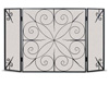 Wrought Iron 3 Panel Elements Fireplace Screen - 12 Side Panels by Napa Forge