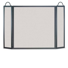 Wrought Iron 3 Panel Traditional Straight-Top Fireplace Screen by Napa Forge