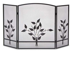 Wrought Iron 3 Panel Three Tea Light Fireplace Screen by Napa Forge