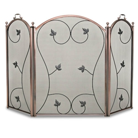 Wrought Iron 3 Panel Kentfield Fireplace Screen by Napa Forge