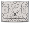 Wrought Iron Bowed Shakespeare's Garden Fireplace Screen by Napa Forge