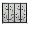 Wrought Iron Flat Garden Vine Fireplace Screen with Sliding Doors by Napa Forge