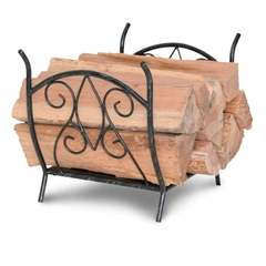 Wrought Iron Forged Crest Fireplace Wood Holder by Napa Forge