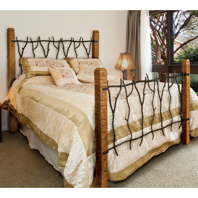 Wrought Iron South Fork Bed By Mathews