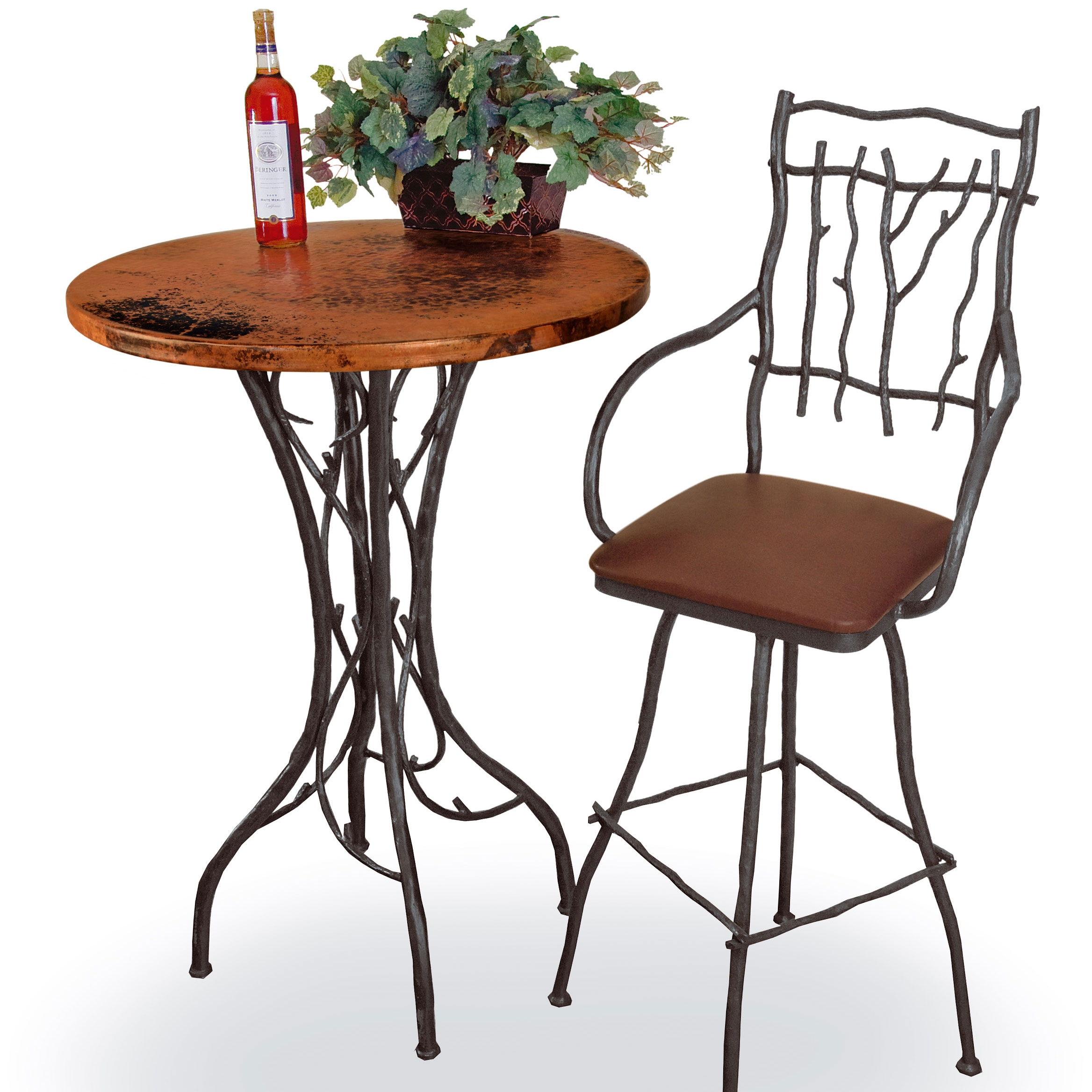Rustic South Fork Counter Height Table | 30in Round Top