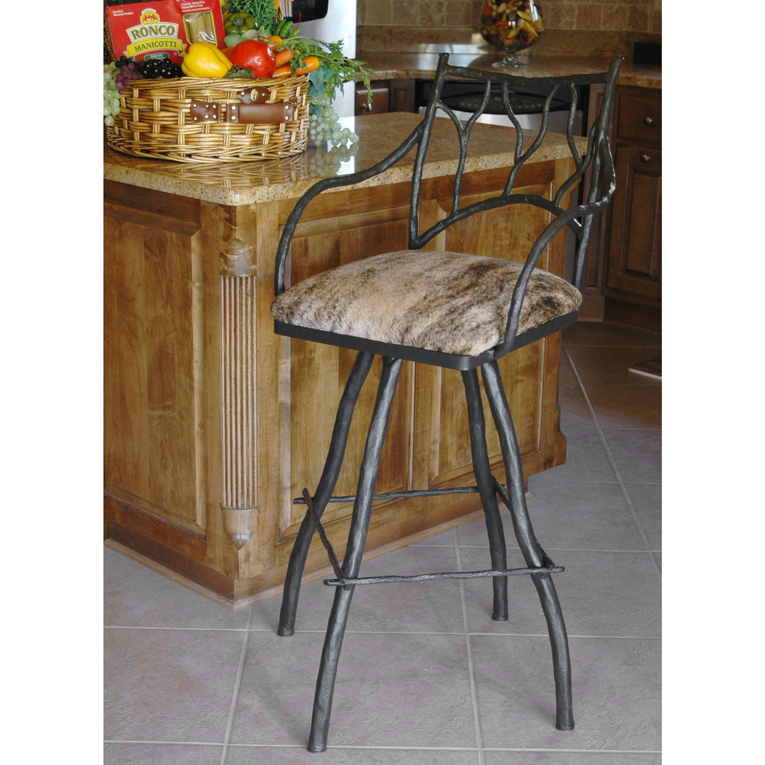 South Fork Branch 25in Swivel Counter Stool Seat Height