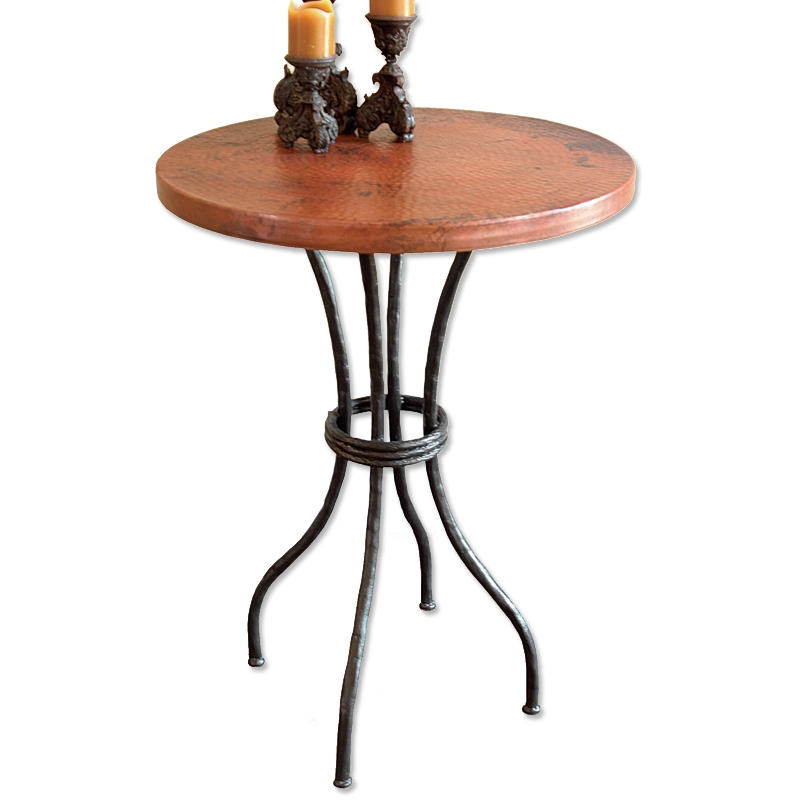 Contemporary wrought iron woodland counter table 30in round top larger photo watchthetrailerfo